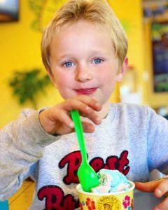 Happy Kids eating Ice Cream